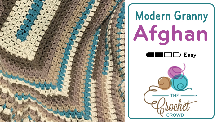Crochet Modern Granny Afghan + Tutorial - The Crochet Crowd®