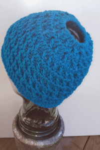 Crochet Frenzy Bun Hat by Laura Jean Bartholomew