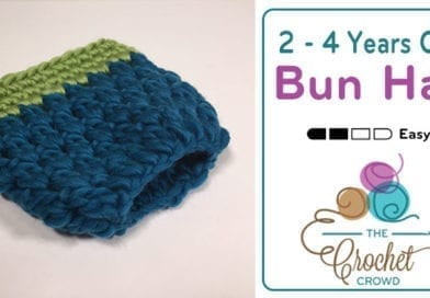 Crochet 2-4 Years Old Bun Hat + Tutorial
