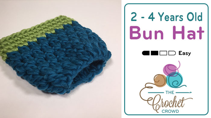 Crochet 2 4 Years Old Bun Hat Tutorial The Crochet Crowd