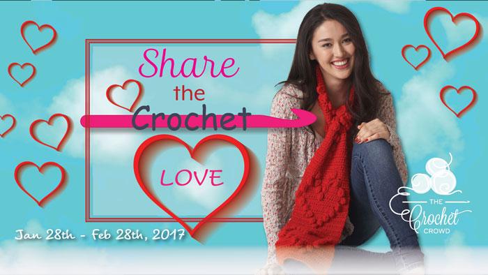 Crochet Along Bobble Heart Scarf Pattern