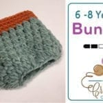 Crochet 6 - 8 Years Old Bun Hat + Tutorial