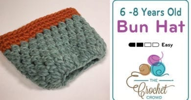 Crochet 6 - 8 Years Old Bun Hat