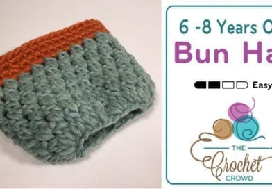 Crochet 6 – 8 Years Old Bun Hat + Tutorial