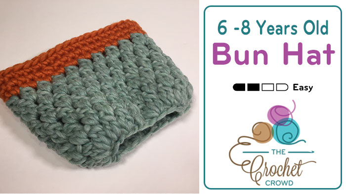 Crochet 6 – 8 Years Old Bun Hat Pattern