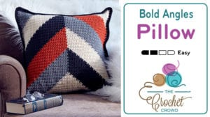 Crochet Bold Angles Pillow