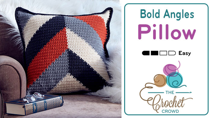 Crochet Bold Angles Pillow