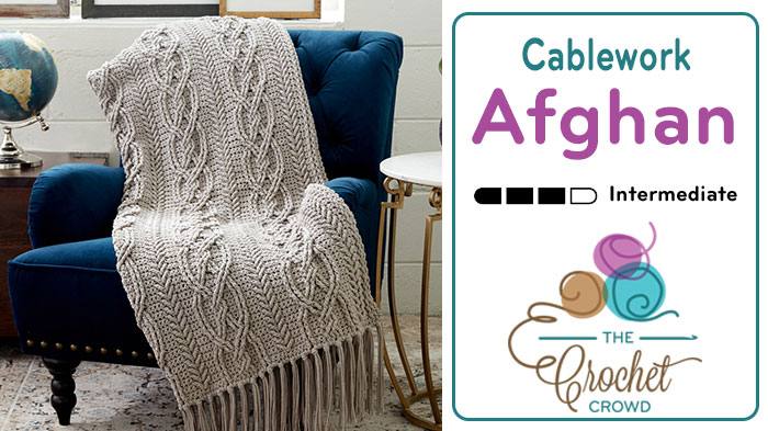Crochet cablework afghan tutorial the crochet crowd crochet cablework afghan ccuart Gallery
