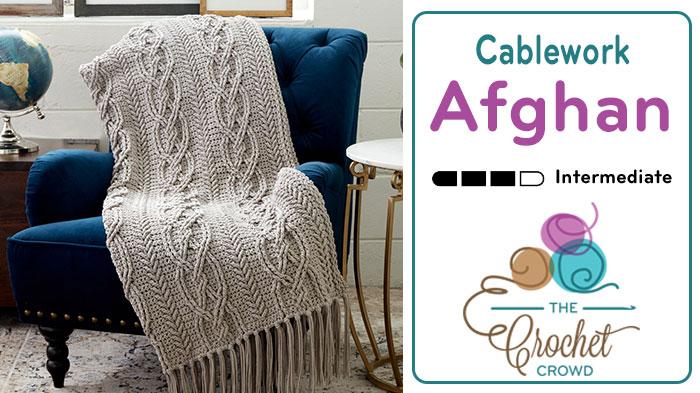 Crochet Cablework Afghan Pattern + Tutorial