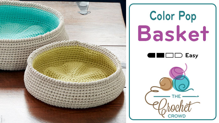 Crochet Color Pop Basket Bowls + Tutorial