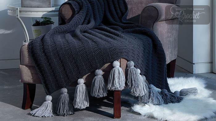 Crochet Tassel Throw Pattern + Tutorial