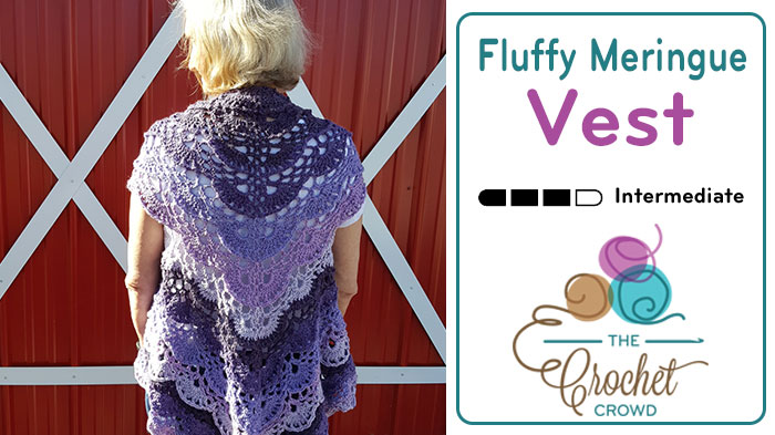 Crochet Fluffy Meringue Vest Pattern