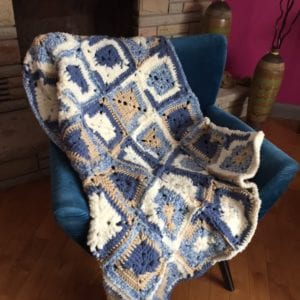 Bernat Home Bundle Granny Square Blanket