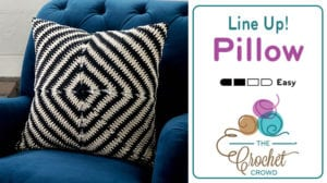 Line Up! Crochet Pillow by Yarnspirations