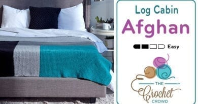 Crochet Modern Log Cabin Afghan Pattern
