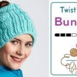 Crochet Twist Stitch Messy Bun Hat + Tutorial