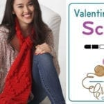 Crochet Valentine Heart Scarf + Tutorial