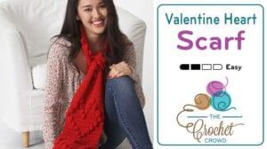Crochet Valentine Heart Scarf