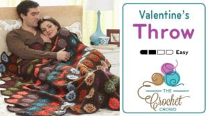 Crochet Valentine's Throw Pattern
