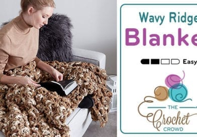 Crochet Wavy Ridge Blanket + Tutorial
