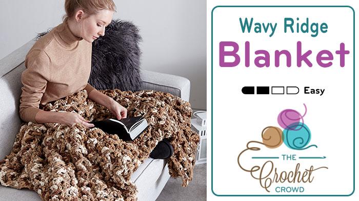 Crochet Wavy Ridge Blanket Pattern + Tutorial