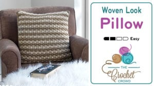 Crochet Woven Look Pillow Pattern
