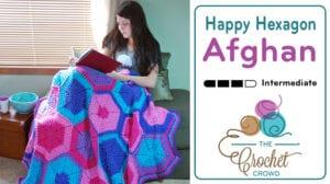 Crochet Happy Hexagon Afghan by Jeanne Steinhilber