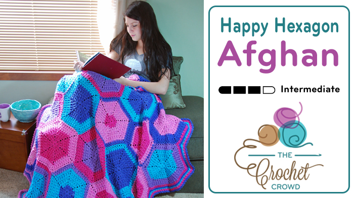 Crochet Happy Hexagon Afghan by Jeanne Steinhilber