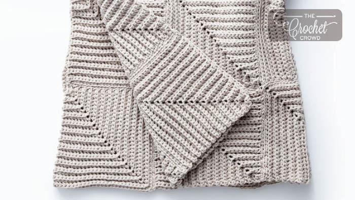 Crochet Mighty Ridge Afghan