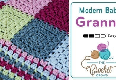 Crochet Modern Baby Granny Blanket Pattern