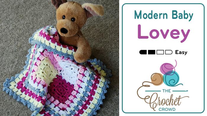 Crochet Modern Baby Lovey Pattern
