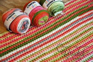 Crochet Watercolor Ridges Afghan by Jeanne Steinhilber