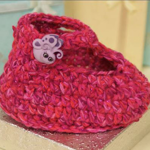 Crochet Ruby Slipper Baby Booties Pattern