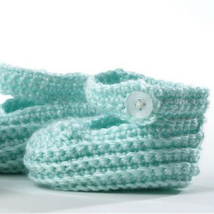 Cute Baby Booties with Strap