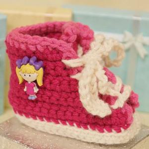 Baby Sneaker Booties Crochet Pattern