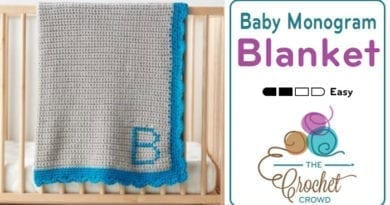 Crochet Baby Monogram Blanket + Tutorial