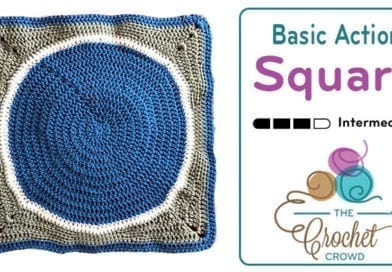Crochet Basic Action Square + Tutorial