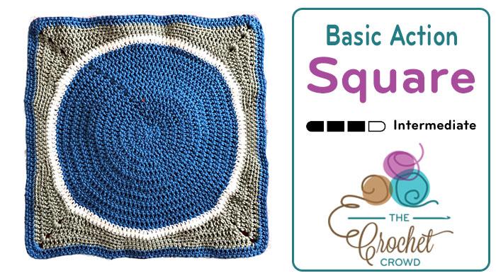 Crochet Basic Action Square + Tutorial
