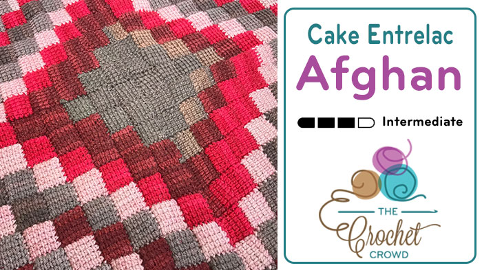 Crochet Caron Cakes Entrelac Afghan + Tutorial