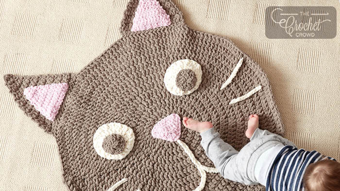 Crochet Purrrfect Cat Play Rug Pattern + Tutorial