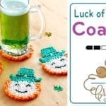 Crochet Luck of the Irish Coasters + Tutorial