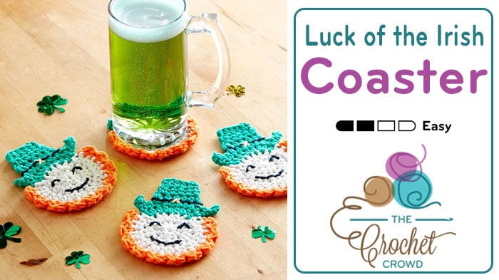 Crochet Luck of the Irish Coasters