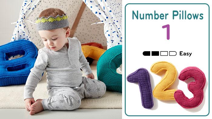 Crochet Number Pillows Pattern + Tutorials