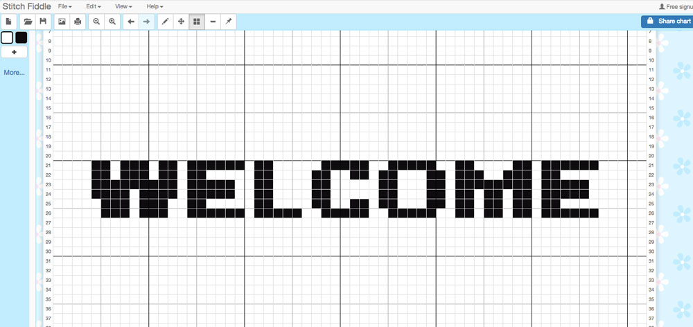 Tapestry Graphghans - Welcome Graph from Stitch Fiddle