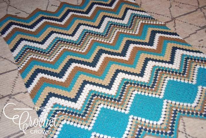 Crochet Modern Chevron Afghan by Jeanne Steinhilber