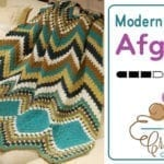 Crochet Modern Chevron Afghan + Photographic Tutorial