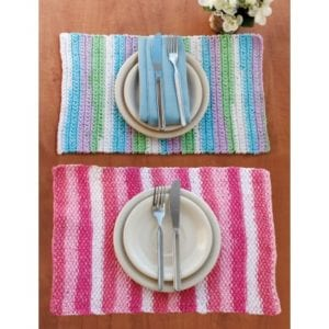 Crochet Stripes Placemat