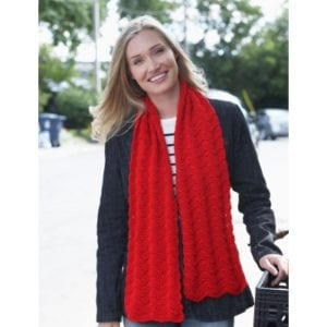 Crochet Red Friday Scarf