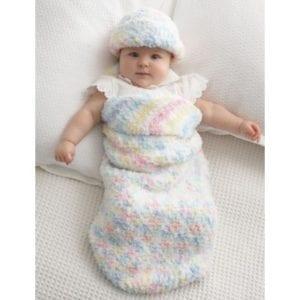 Crochet Baby Cocoon & HatCrochet Baby Cocoon & Hat