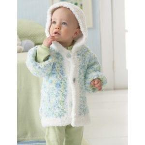 Crochet Snuggly Hooded Jacket